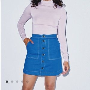 NWT American Apparel The Denim Pocket Skirt Small